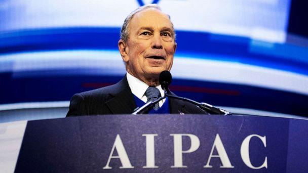 PHOTO: Democratic presidential candidate and former New York City Mayor Mike Bloomberg speaks at the American Israel Public Affairs Committee (AIPAC) 2020 Conference, March 2, 2020 in Washington. (Alex Brandon/AP)