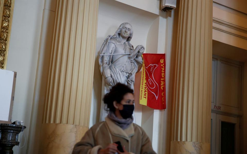 Culture workers and artists occupy the Theatre de l'Odeon - Reuters