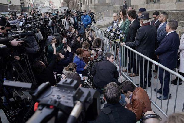 PHOTO: Film producer Harvey Weinstein's lawyer Donna Rotunno speaks to the media following his sentencing at New York Criminal Court after his sexual assault trial in New York City, March 11, 2020. (Carlo Allegri/Reuters)