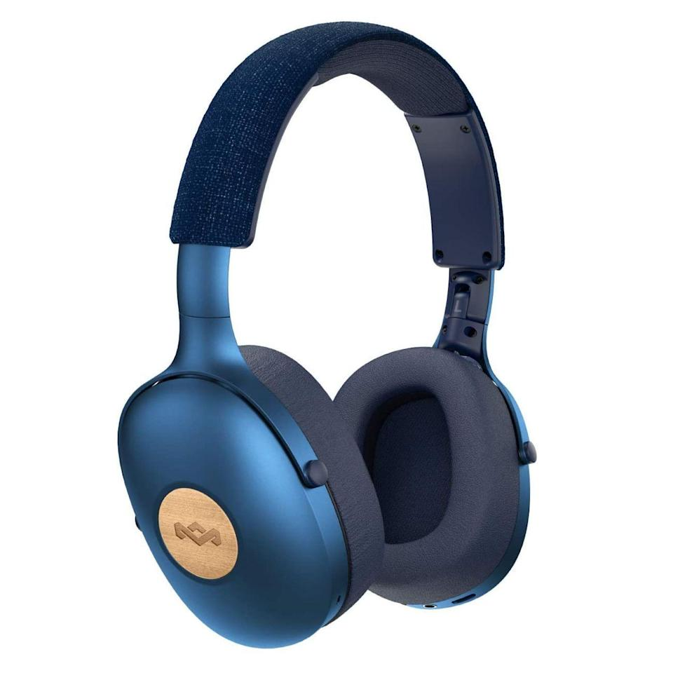"""<p><strong>House of Marley</strong></p><p>amazon.com</p><p><strong>$84.70</strong></p><p><a href=""""https://www.amazon.com/dp/B07SPL1FLR?tag=syn-yahoo-20&ascsubtag=%5Bartid%7C2089.g.285%5Bsrc%7Cyahoo-us"""" rel=""""nofollow noopener"""" target=""""_blank"""" data-ylk=""""slk:Shop Now"""" class=""""link rapid-noclick-resp"""">Shop Now</a></p><p>The Positive Vibration XL wireless over-ear headphones by House of Marley impressed me by offering a cool design, a high-quality sound, and sustainable craftsmanship. The cans are made using recyclable aluminum, eco-friendly REWIND fabric, and FSC-certified wood from responsibly managed forests. You can order them with a black, blue, or copper finish.</p><p>And the sound of the headphones is just as characterful as their looks. Equipped with 40-millimeter audio drivers, the Positive Vibration XL will entertain you with a pleasantly mellow bass. The cans can deliver up to 24 hours of wireless playback between charges.</p>"""