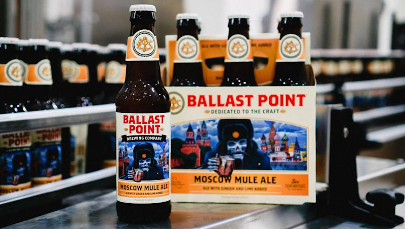 A six-pack of Ballast point, a Constellation beer.