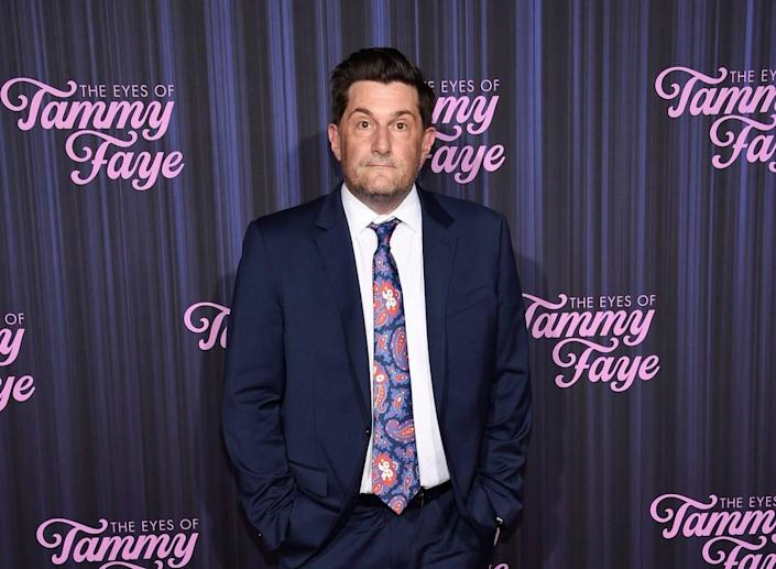 """Director Michael Showalter attends the premiere of """"The Eyes of Tammy Faye"""" at the SVA Theatre on Tuesday in New York."""