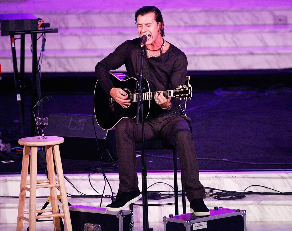 "Former Bush front man Gavin Rossdale also performed. Although he's gone solo now, he still peppers his sets with Bush's grunge-era hits. Michael Tran/<a href=""http://www.filmmagic.com/"" target=""new"">FilmMagic.com</a> - October 26, 2009"