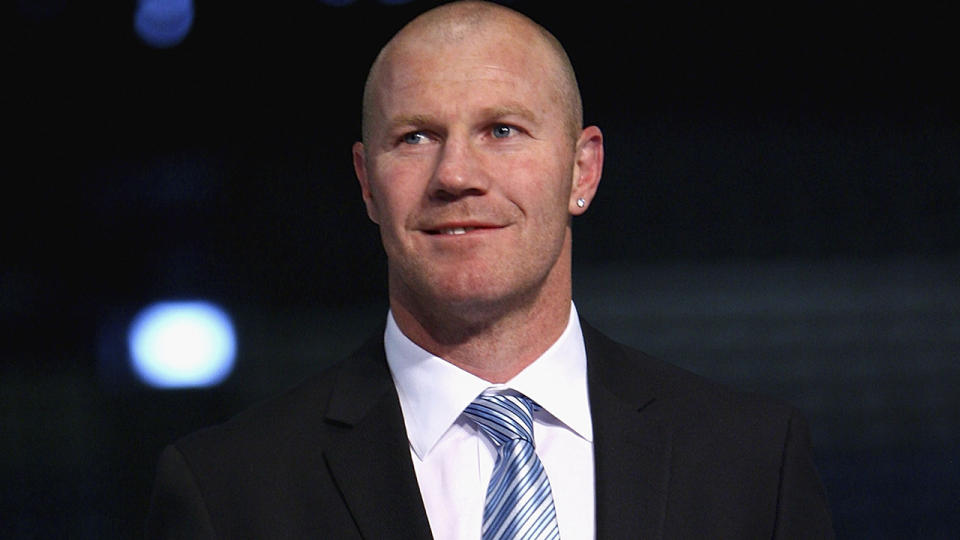 Barry Hall is pictured at an AFL function.