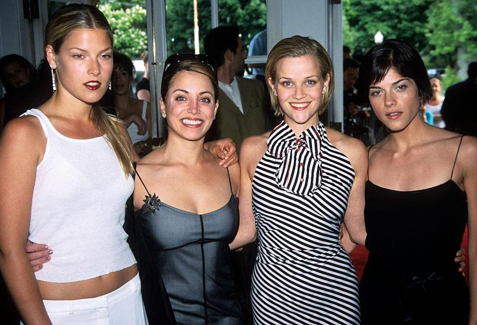 """""""Legally Blonde"""" stars Ali Larter, Alanna Ubach, Reese Witherspoon and Selma Blair attend the New York premiere. (Photo: Steve Eichner/Getty Images)"""
