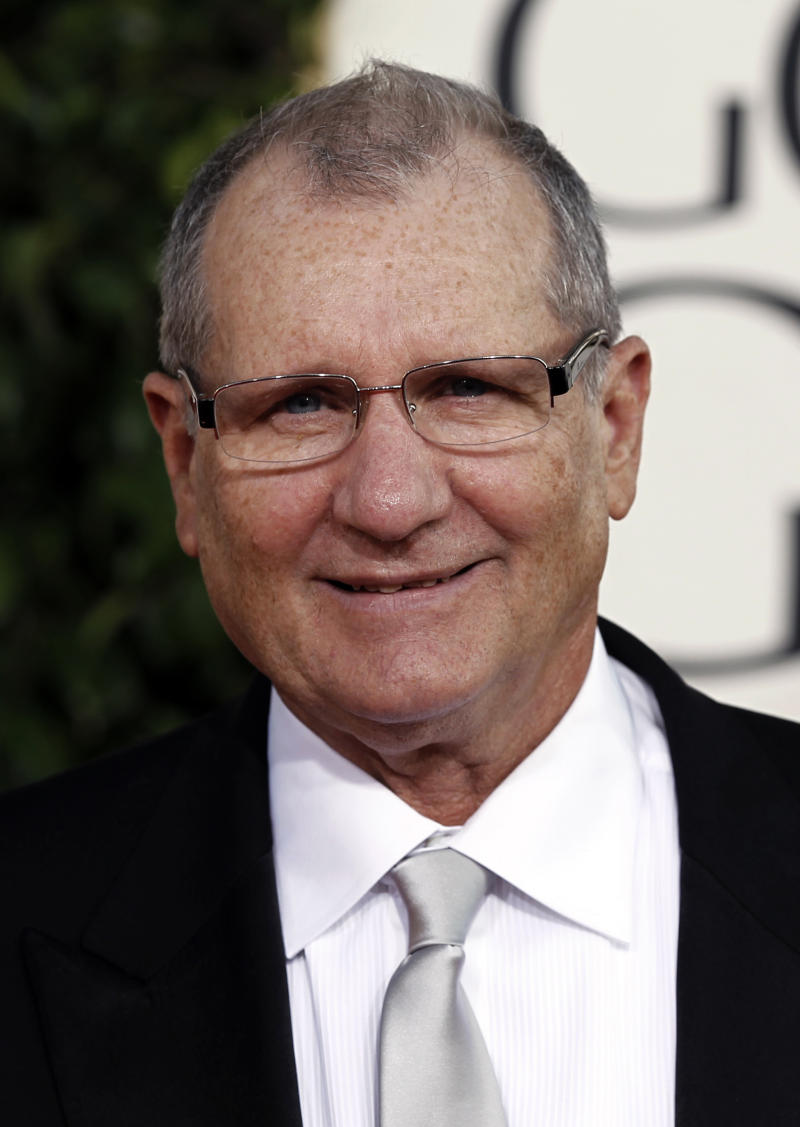 """FILE - In this Jan. 16, 2011 file photo, actor Ed O'Neill, from the ABC comedy series, """"Modern Family,"""" arrives at the Golden Globe Awards in Beverly Hills, Calif. Neill tells his hometown newspaper that he's getting a star on the Hollywood Walk of Fame on Aug. 30. Induction speeches will be given by Sofia Vergara, who plays his wife on the ABC hit, and Katey Sagal, who played his wife on Fox's """"Married With Children."""" (AP Photo/Matt Sayles, file)"""