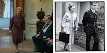 <p>Judging from these photos of Gillian Anderson entering parliament, it resembles Thatcher's first day in office, on June 4, 1979. </p>