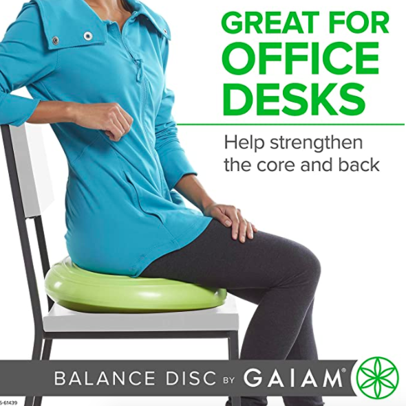 Balance disc wobble cushion for home or office, S$34.38. PHOTO: iHerb