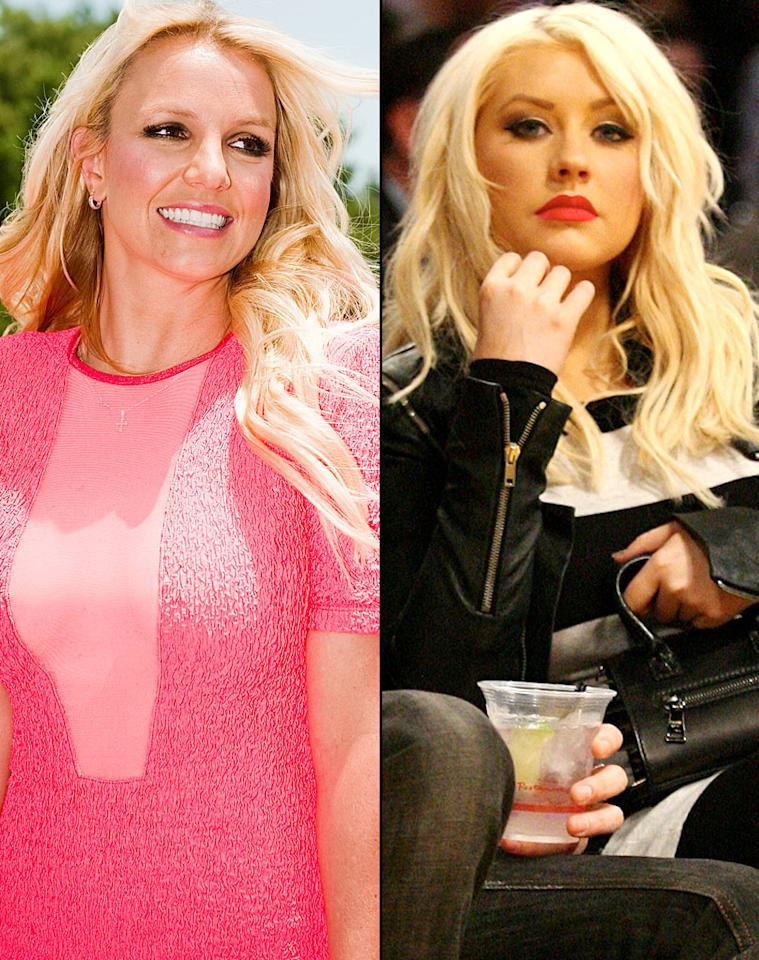 "Christina Aguilera is ""up in arms"" over Britney Spears joining ""The X Factor,"" reveals Star. The mag says ""The Voice"" judge is going around bashing her rival, telling people that Spears acts ""like a zombie"" and is ""going to be a disaster"" on the singing competition. For how Spears is striking back at Aguilera's insults, click over to <a target=""_blank"" href=""http://www.gossipcop.com/christina-aguilera-blasts-britney-spears-x-factor-judge-fight-feud/"">Gossip Cop</a>."