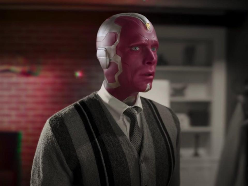 Paul Bettany was Vision in WandaVision (YouTube/Marvel Entertainment)