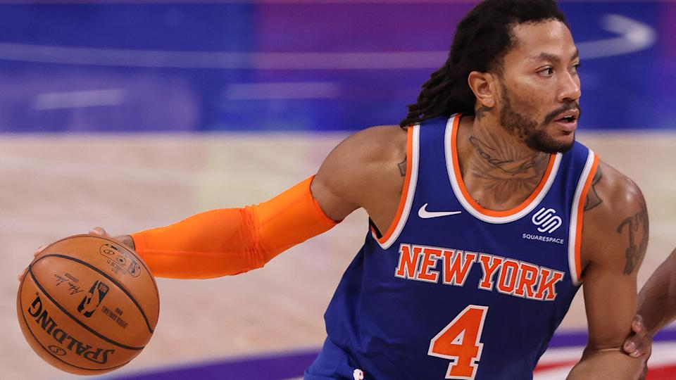 New York Knicks point guard Derrick Rose says he felt the full effects of the coronavirus after contracting it several weeks ago. (Photo by Gregory Shamus/Getty Images)