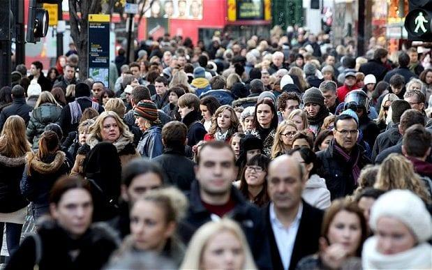 The population of the UK is estimated to stand at 77 million by the middle of the century - 2011 Getty Images