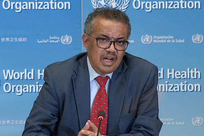 WHO director general Tedros
