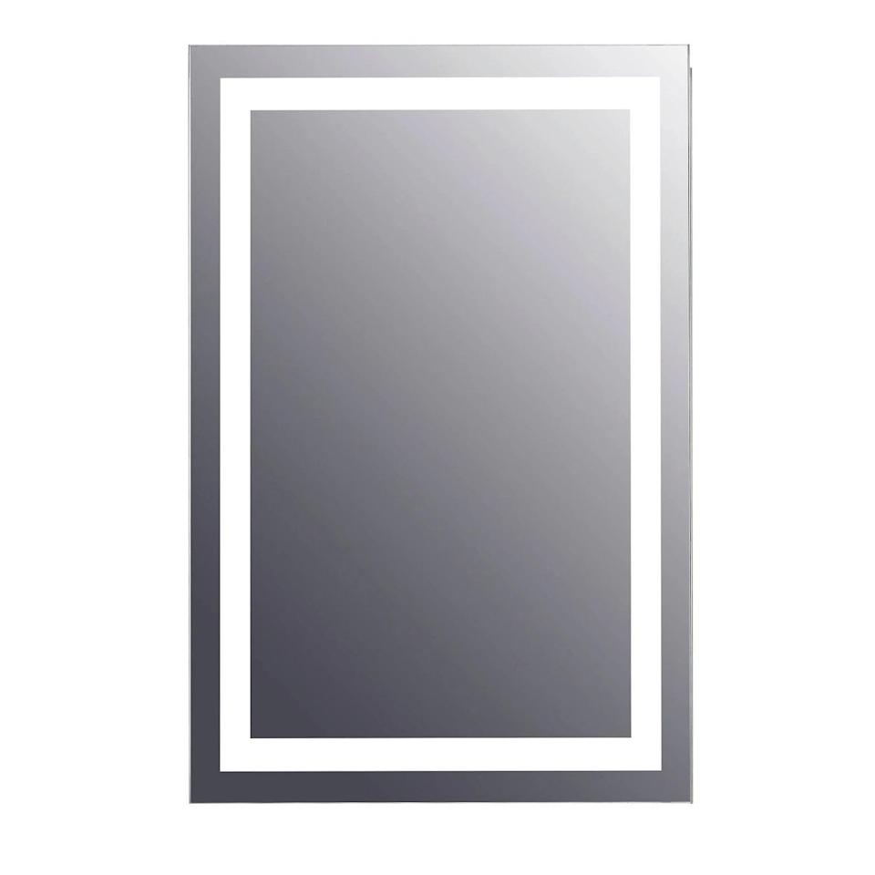 """<p>The <span>Tosca 24"""" Rectangular Frameless Lighted LED Bathroom Mirror with Anti Fog</span> ($250) will instantly give you bright lighting for flawless makeup application without looking bulky.</p>"""