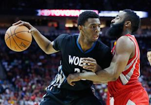Last year's No. 1 pick, Andrew Wiggins, could share the floor with this year's top choice. (Scott Halleran/Getty)