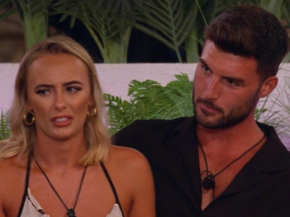 Millie learns the truth about Liam in 'Love Island' (ITV Hub)