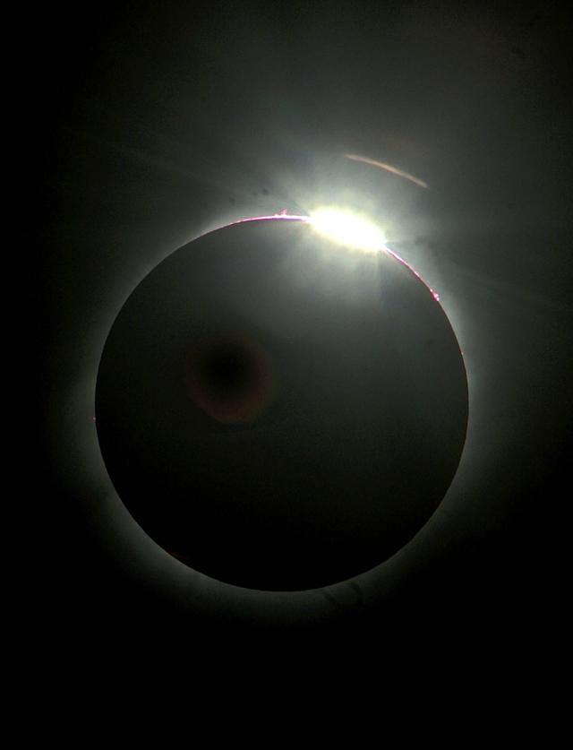 ATHENS - MARCH 29: A total solar eclipse is seen on March 29, 2006 above Athens, Greece. In an annular or total eclipse, the Moon moves between the Sun and Earth and completely blocking the sun. (Photo by Milos Bicanski/ Getty Images)