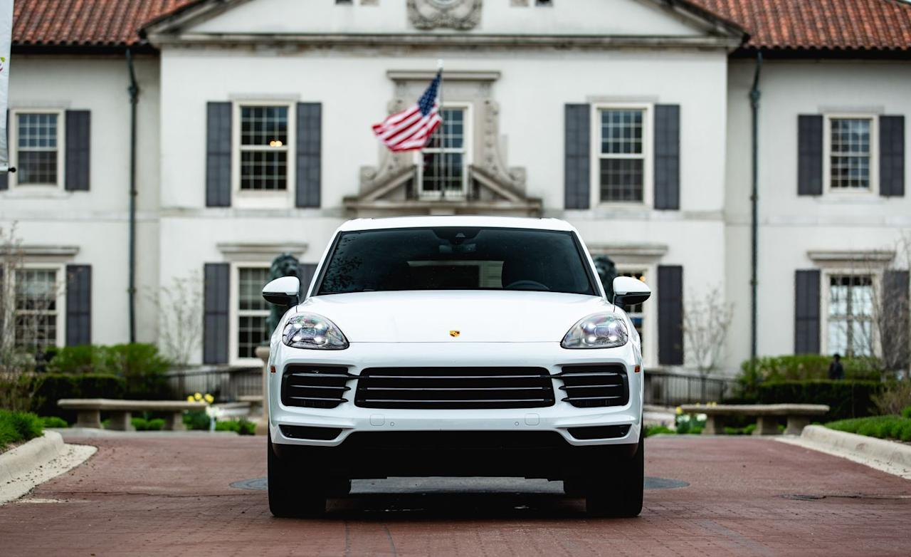 <p>A twin-turbocharged 2.9-liter V-6 makes 434 horsepower and 405 lb-ft of torque in the 2019 Porsche Cayenne S. The engine pairs with an eight-speed automatic transmission supplied by ZF.</p>