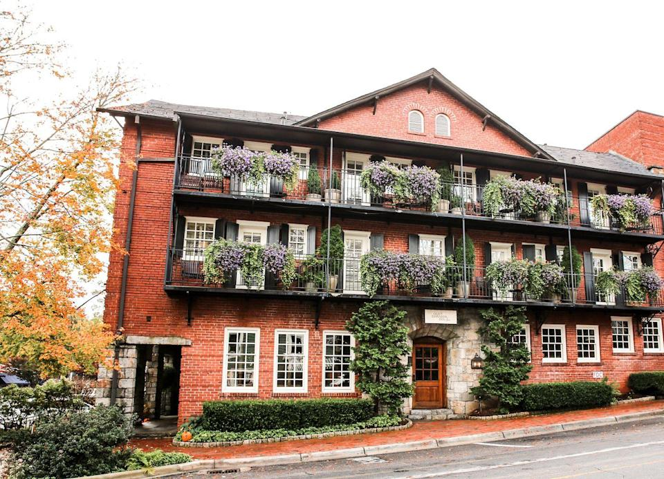 """<p>The luxurious mountain town of Highlands, North Carolina has drawn guests from near and far for years, but<a href=""""https://www.oldedwardshospitality.com/old-edwards-inn-spa"""" rel=""""nofollow noopener"""" target=""""_blank"""" data-ylk=""""slk:Old Edwards Inn and Spa"""" class=""""link rapid-noclick-resp""""> Old Edwards Inn and Spa</a> keeps visitors leaving refreshed and coming back for more. The world-renowned property features a European-style resort with luxurious amenities, and the casual elegance that comes with true Southern hospitality. </p><p>Of course, Old Edwards is known for its world-renowned spa, but it is equally lauded for its leisure activities, farm-to-table dining, and accommodations, from guest rooms to vacation homes. While its seated in the heart of downtown, the property's five restaurants, unique experiences, and relaxing amenities means you never have to leave. </p>"""