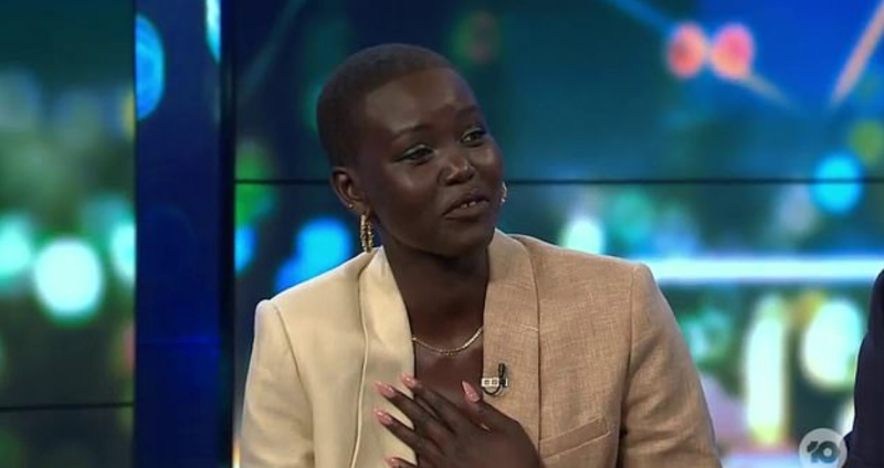 Adut appeared grateful for Carrie's vulnerability. Photo: Channel 10