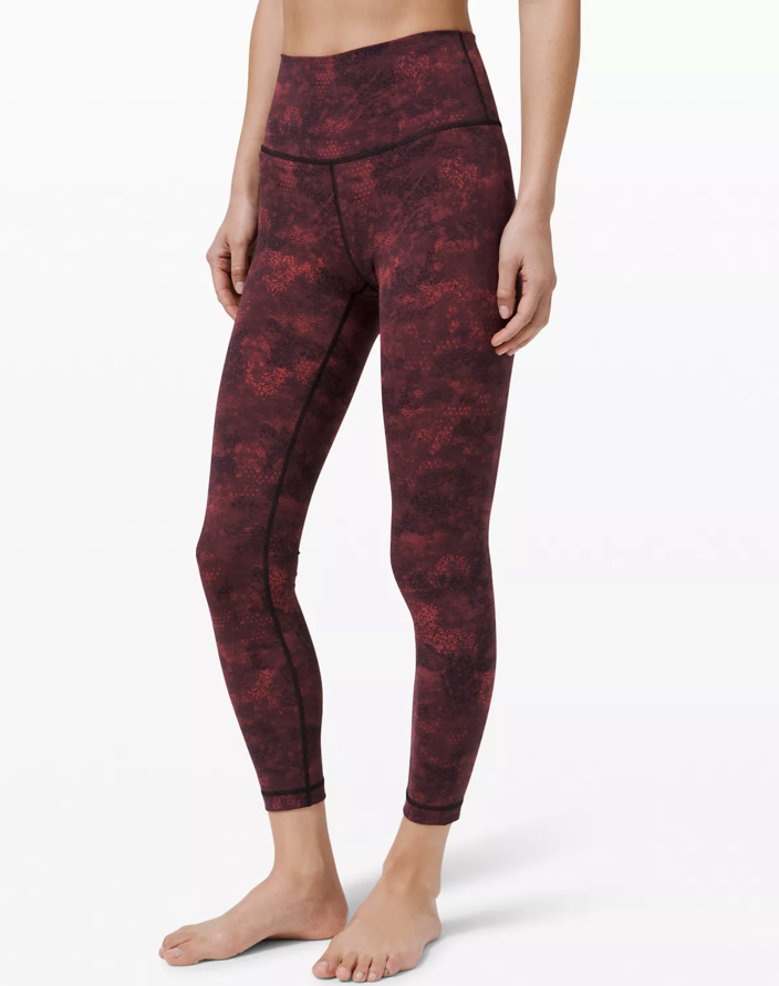 """<p><strong>Lululemon</strong></p><p>lululemon.com</p><p><strong>$118.00</strong></p><p><a href=""""https://go.redirectingat.com?id=74968X1596630&url=https%3A%2F%2Fshop.lululemon.com%2Fp%2Fwomen-pants%2FWunder-Under-HR-78-Full-Lux-LNY%2F_%2Fprod9750736&sref=https%3A%2F%2Fwww.cosmopolitan.com%2Fstyle-beauty%2Ffashion%2Fg35293423%2Flululemon-dropped-a-whole-new-collection-for-lunar-new-year-2020%2F"""" rel=""""nofollow noopener"""" target=""""_blank"""" data-ylk=""""slk:Shop Now"""" class=""""link rapid-noclick-resp"""">Shop Now</a></p><p>Your favorite Wunder Under leggings, but with a tie-dyed burgundy print. </p>"""
