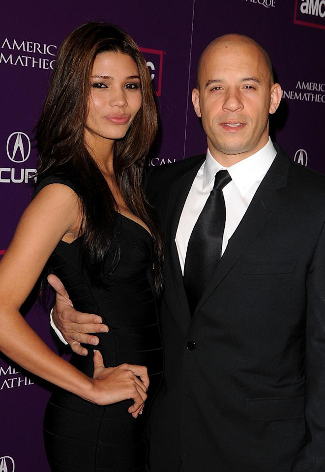 """<a href=""""http://movies.yahoo.com/movie/contributor/1800020716"""">Vin Diesel</a> and guest at the 23rd Annual American Cinematheque Awards in Beverly Hills - 12/01/2008"""