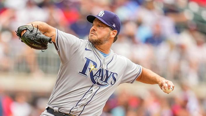 Tampa Bay Rays starting pitcher Rich Hill in 2021