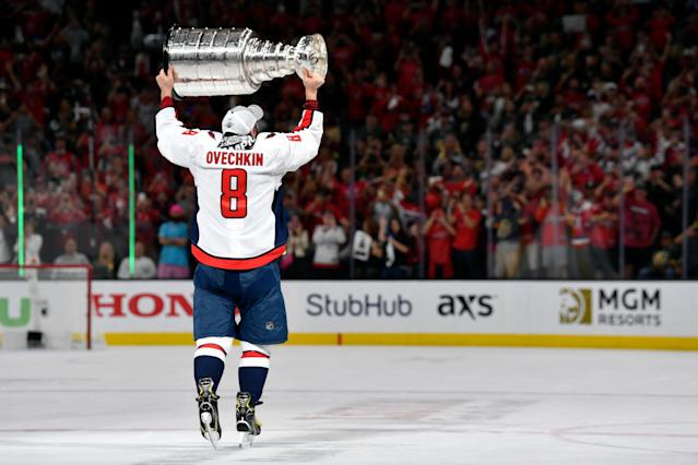 Alex Ovechkin, Stanley Cup champion. (Getty)