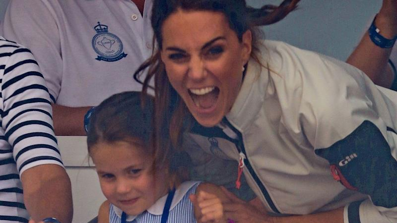 Prince George caught eating an ant at Kate Middleton's event