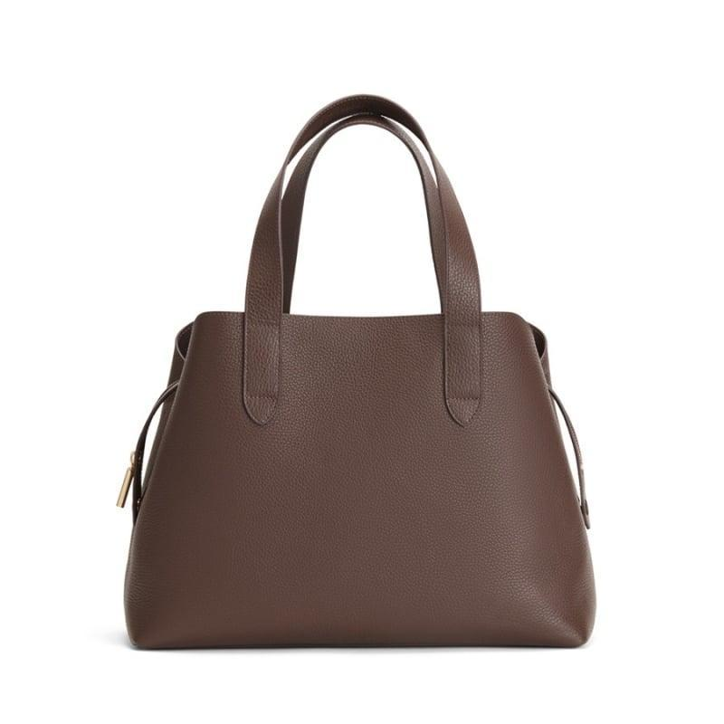 <p>This <span>Cuyana Zippered Satchel</span> ($295) is the ultimate carryall, and we love the chocolate brown leather as an alternative to basic black.</p>
