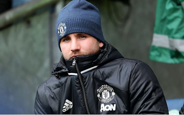 <span>Luke Shaw has not featured for United since last month</span>