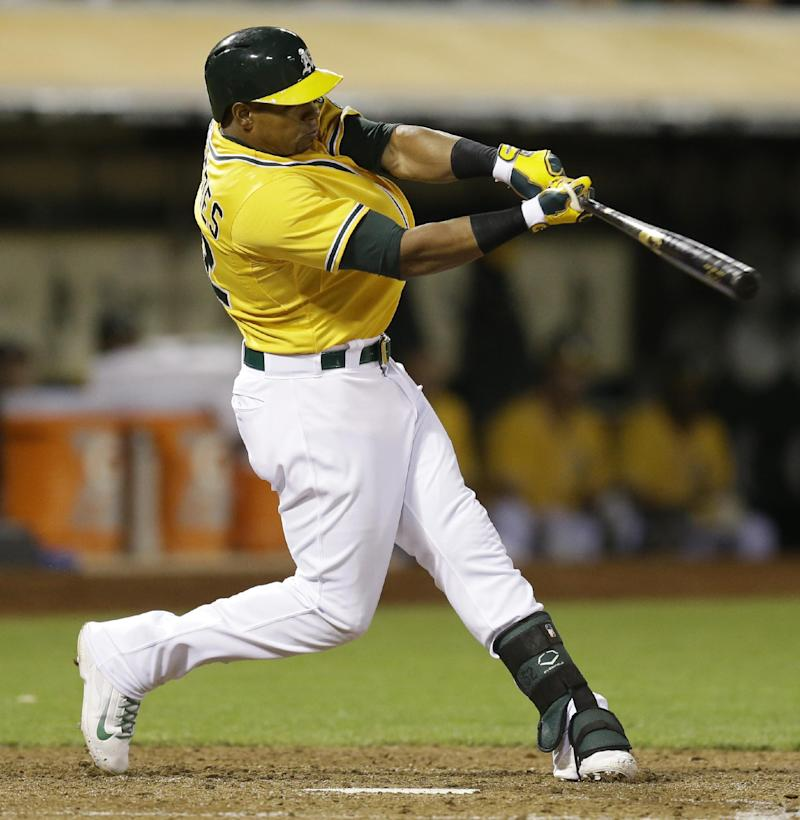 Cespedes does it all in A's 11-3 win over Angels