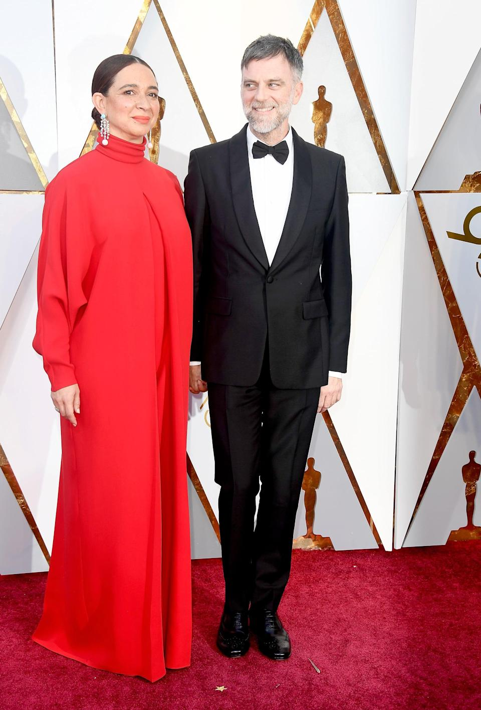 HOLLYWOOD, CA - MARCH 04:  Maya Rudolph (L) and Paul Thomas Anderson attend the 90th Annual Academy Awards at Hollywood & Highland Center on March 4, 2018 in Hollywood, California.  (Photo by Frazer Harrison/Getty Images)