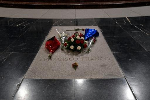 The grave of Spain's General Francisco Franco in the Valle de los Caidos (The Valley of the Fallen)