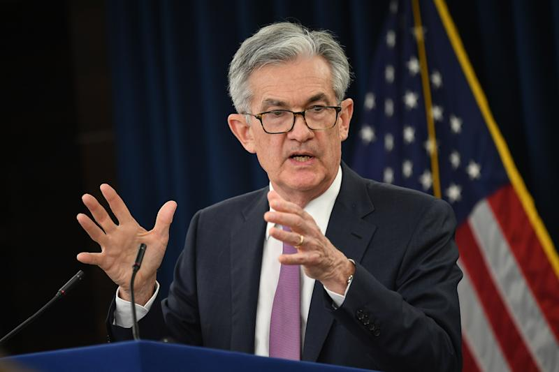 Federal Reserve Board Chair Jerome Powell speaks during a press conference after a Federal Open Market Committee meeting in Washington, DC, on May1, 2019. - The US Federal Reserve decided Wednesday to keep its benchmark interest rate unchanged amid mixed signals about the direction of the US economy. (Photo by MANDEL NGAN / AFP) (Photo credit should read MANDEL NGAN/AFP/Getty Images)