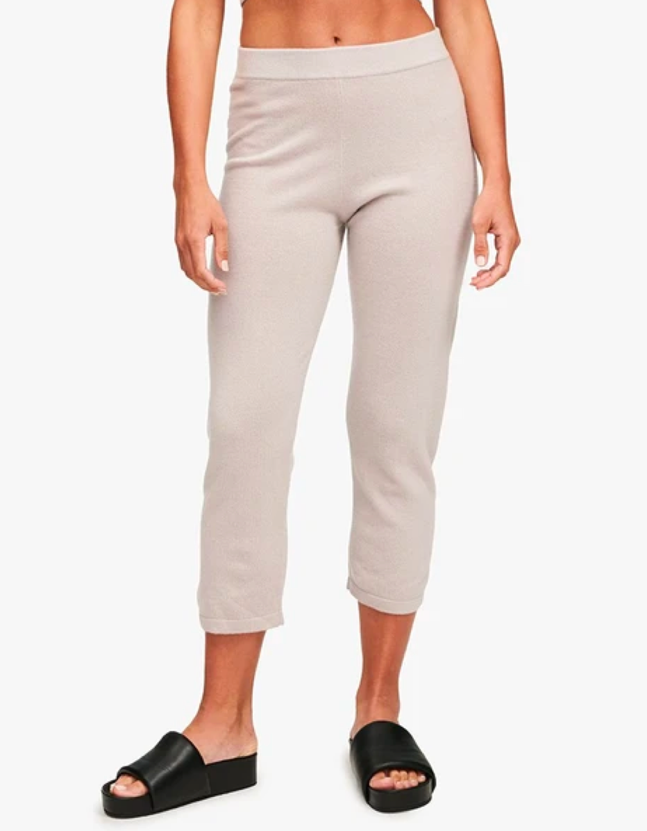 """I popped into the Naadam store off chance this week, and immediately fell in love with these crop cashmere joggers. They're 40% off, and they're the first the thing I'll add to cart since I truly need a switch-up from the leggings and sweatpants I've been wearing for the last nine months. —<em>T.A.</em> $185, Naadam. <a href=""""https://naadam.co/collections/womens-lounge-sleep/products/cashmere-cropped-pant?variant=32616968355936"""" rel=""""nofollow noopener"""" target=""""_blank"""" data-ylk=""""slk:Get it now!"""" class=""""link rapid-noclick-resp"""">Get it now!</a>"""
