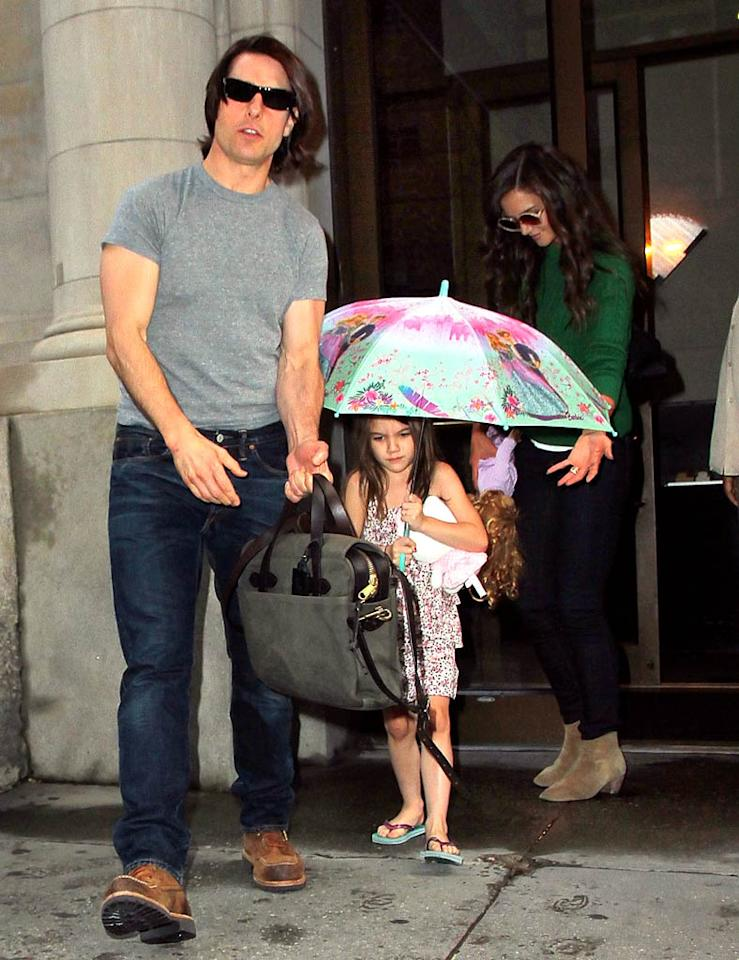 "<i>Life & Style</i> reports that Tom Cruise and Katie Holmes are ""determined to see their 5-year-old make friends"" because Suri has had a hard time connecting with other kids. The magazine reveals that when Suri recently ""refused to play with the other kids"" at a New York sports complex, a counselor was assigned to help her find new playmates. For why it's been so difficult for Suri to make friends, see what a Cruise insider dishes to <a href=""http://www.gossipcop.com/suri-friends-tom-cruise-katie-holmes-playmates-daughter/"" target=""new"">Gossip Cop</a>. Jackson Lee/<a href=""http://www.splashnewsonline.com"" target=""new"">Splash News</a> - August 9, 2011"
