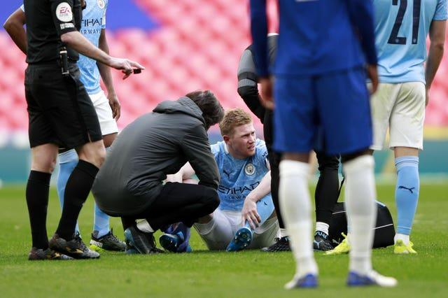 Kevin De Bruyne is also bidding to return from injury