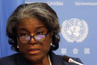 FILE PHOTO: New U.S. Ambassador to United Nations, Linda Thomas-Greenfield holds a news conference in New York