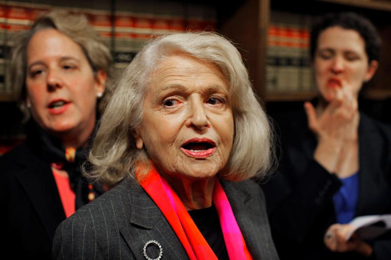Edith Windsor won a landmark case at the US Supreme Court arguing the Defense of Marriage Act discriminates against gay couples: REUTERS