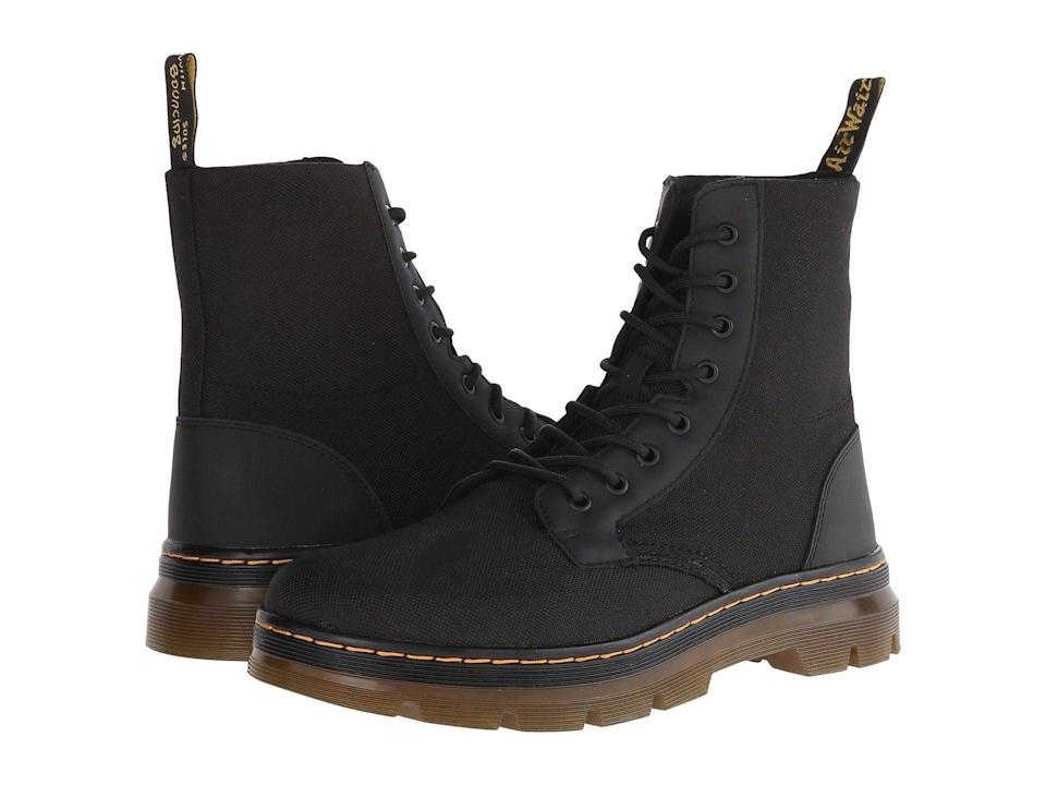 "<h3>Dr. Martens Combs Fold Down Boot</h3><br>""I have been buying/wearing boots for decades and from a multitude of manufacturers. I have at last found the perfect boot in fit, style, endurance, and feel. This is it. I now own three pairs of them and cannot anticipate finding anything better."" – Anonymous <br><br><strong>Dr. Martens</strong> Combs Fold Down Boot, $, available at <a href=""https://go.skimresources.com/?id=30283X879131&url=https%3A%2F%2Fwww.zappos.com%2Fp%2Fdr-martens-combs-fold-down-boot-black-extra-tough-nylon-rubbery%2Fproduct%2F8475115%2Fcolor%2F539993"" rel=""nofollow noopener"" target=""_blank"" data-ylk=""slk:Zappos"" class=""link rapid-noclick-resp"">Zappos</a>"