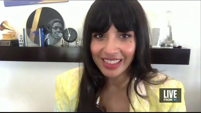 """Actress Jameela Jamil appears on """"E! Countdown to the Red Carpet"""" show"""