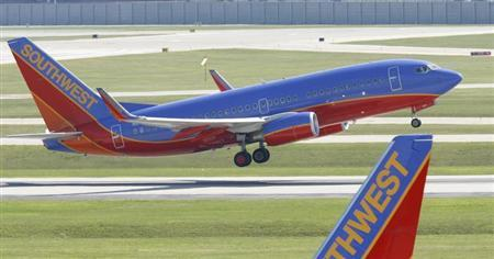 File photo of a Southwest Airlines plane taking off from Midway Airport in Chicago