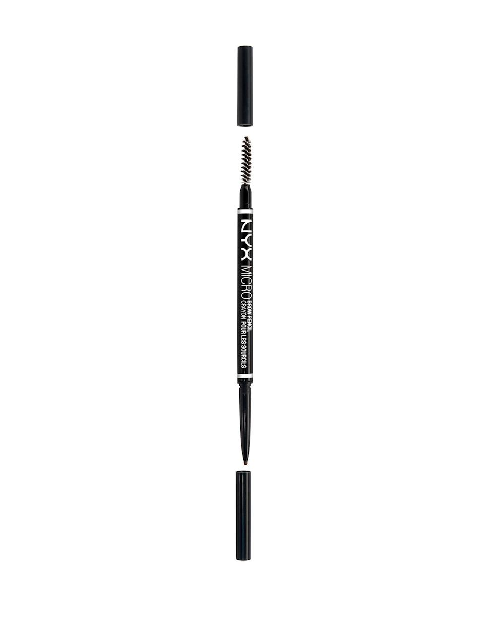 <p>The formula of the <span>NYX Cosmetics Micro Brow Pencil</span> ($10) is stiff and waxy, ensuring it will stay on all day and keep your hairs in place.</p>