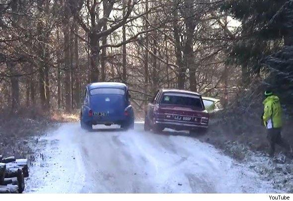 Wyedean rally Volvo PV 144 and Ford Cortina