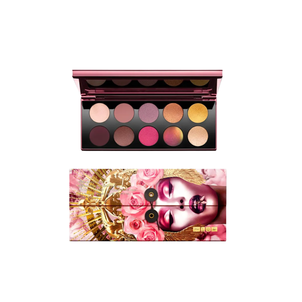 """Pat McGrath's palettes are like little jewel boxes, and this one may be my favorite yet. The mix of rosy mattes and extraterrestrial shimmers are the perfect blend of wearable and totally out-there—and no matter what texture the shadow is, each is so creamy and pigmented. I've been dusting the matte rose shade on my lids for day, and am obsessed with the shiny brown-red shimmer for more impactful looks. It's a splurge for sure, but well worth it for something that made me fall in love with makeup again after a long dry spell. <em>—B.C.</em> $125, Bergdorf Goodman. <a href=""""https://www.bergdorfgoodman.com/p/pat-mcgrath-labs-mothership-viii-artistry-palette-divine-rose-ii-collection-prod164050133?ecid=BGCS__GooglePLA&utm_source=google_shopping&gclid=Cj0KCQjwg7KJBhDyARIsAHrAXaEFN3GInEkNZ_HWk_F9Kaoyn6mw5WI0SYJSu98dCUBNNEwJhHuhnJ0aAsPHEALw_wcB&gclsrc=aw.ds"""" rel=""""nofollow noopener"""" target=""""_blank"""" data-ylk=""""slk:Get it now!"""" class=""""link rapid-noclick-resp"""">Get it now!</a>"""