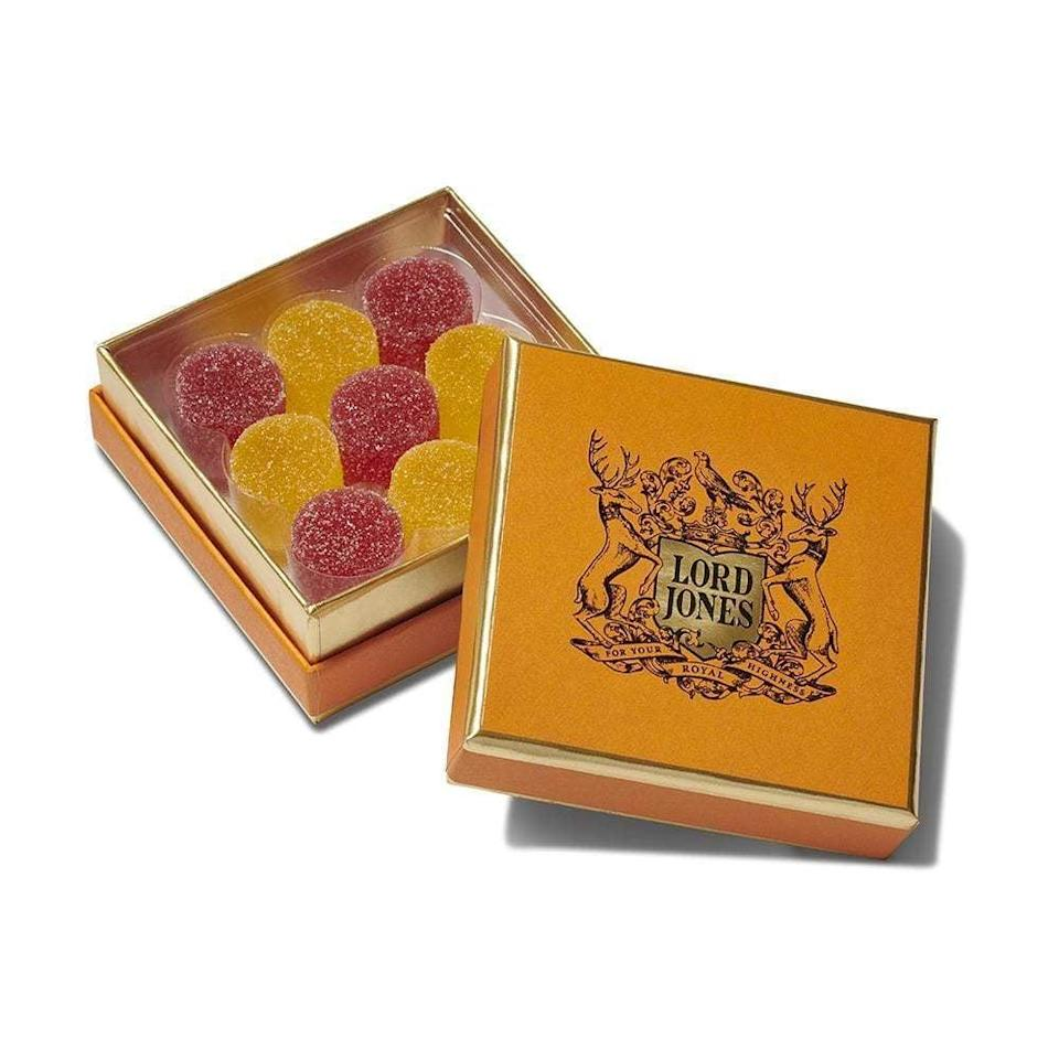 <p>If you're of age (21+), we recommend these <span>Lord Jones Old Fashioned CBD Gumdrops</span> ($45). They're delicious and help you calm down; what's not to like?</p>