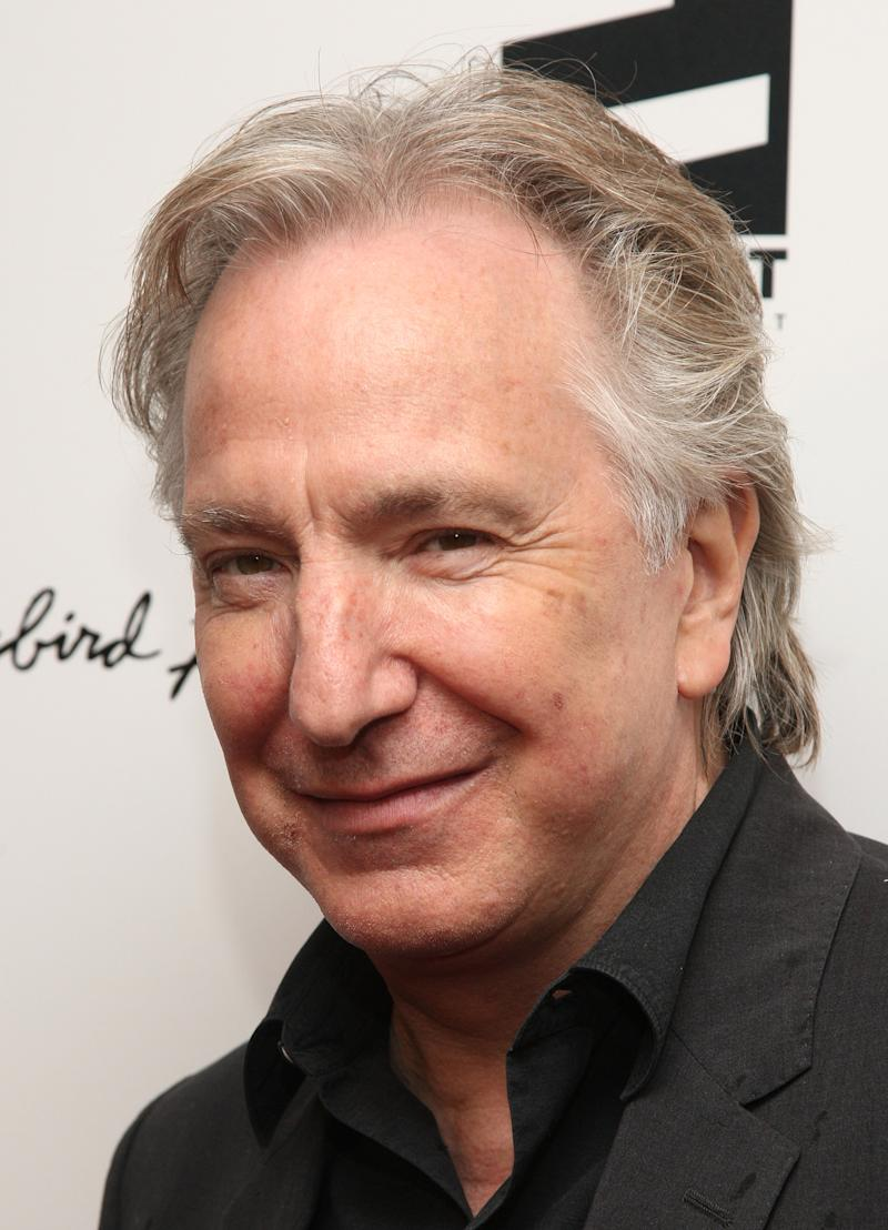 """FILE - In this April 26, 2010 file photo, actor Alan Rickman attends the premiere of """"Mother and Child"""" at the Paris Theater in New York. Rickman returns to Broadway in Theresa Rebeck's play """"Seminar,"""" opening Sunday, Nov. 20.  (AP Photo/Peter Kramer, file)"""