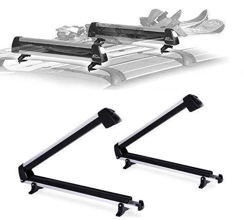 "<p><strong>Car Rack & Carrier</strong></p><p>amazon.com</p><p><strong>$79.95</strong></p><p><a href=""https://www.amazon.com/dp/B07YY681WZ?tag=syn-yahoo-20&ascsubtag=%5Bartid%7C10060.g.34493561%5Bsrc%7Cyahoo-us"" rel=""nofollow noopener"" target=""_blank"" data-ylk=""slk:Shop Now"" class=""link rapid-noclick-resp"">Shop Now</a></p><p>This option from Car Rack & Carrier is universal, so it pretty much fits most vehicles as long as they have roof rails and cross bars. It's also ideal for a fam trip, as it can hold up to four snowboards and six pairs of skis. </p>"