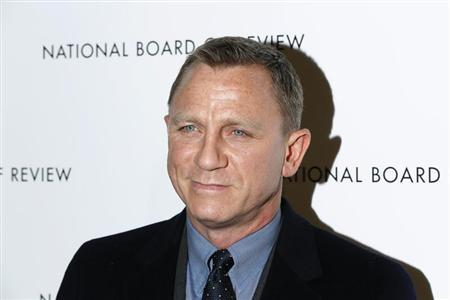 British actor Daniel Craig arrives to attend the National Board of Review awards gala in New York